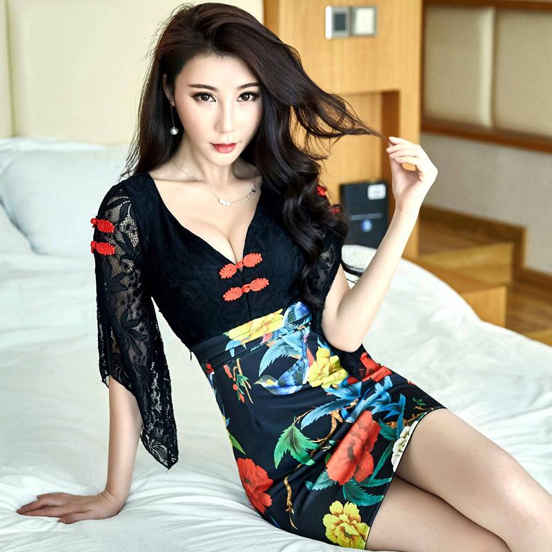 中国风包臀超短裙